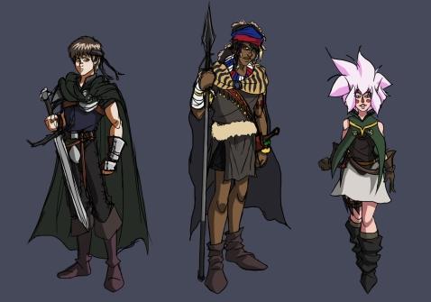 Character Designs-KoM-Main Char